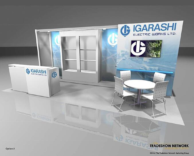 10x20 rental exhibit at a trade show in chicago