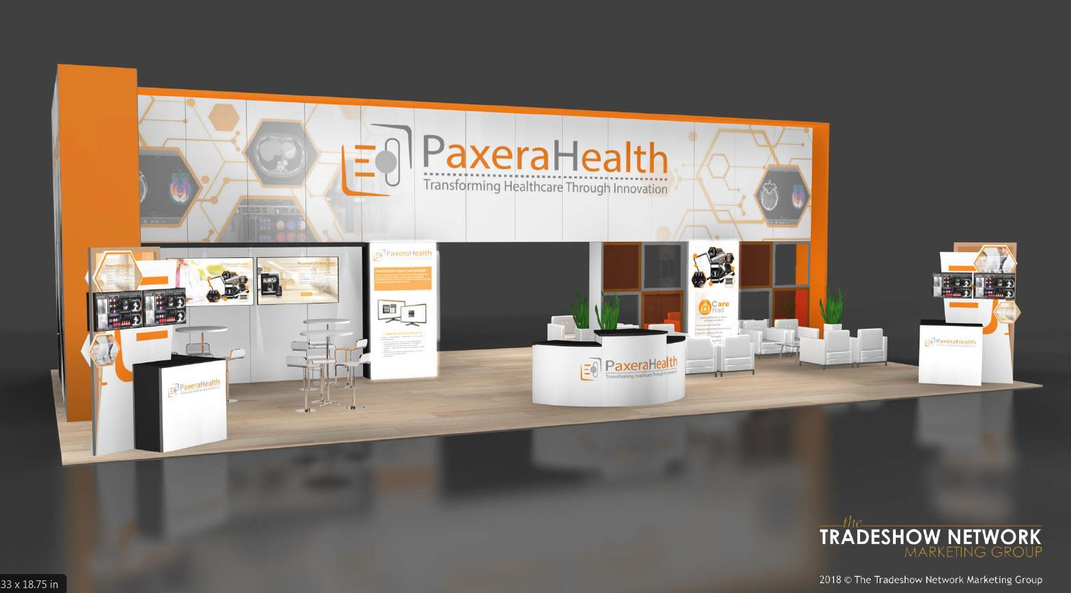 Trade Show Booth Exhibitors : Free design concepts for exhibitors at the himss conference