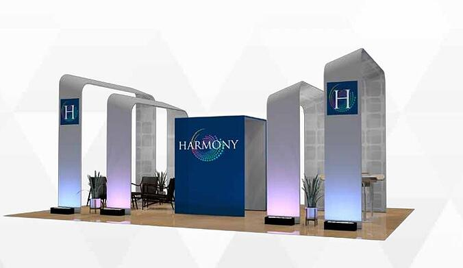 20x20 booth from The Tradeshow Network