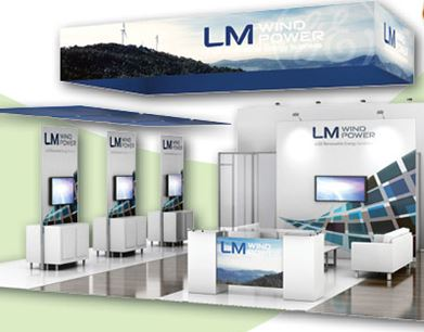 20x20 trade show booth at windpower