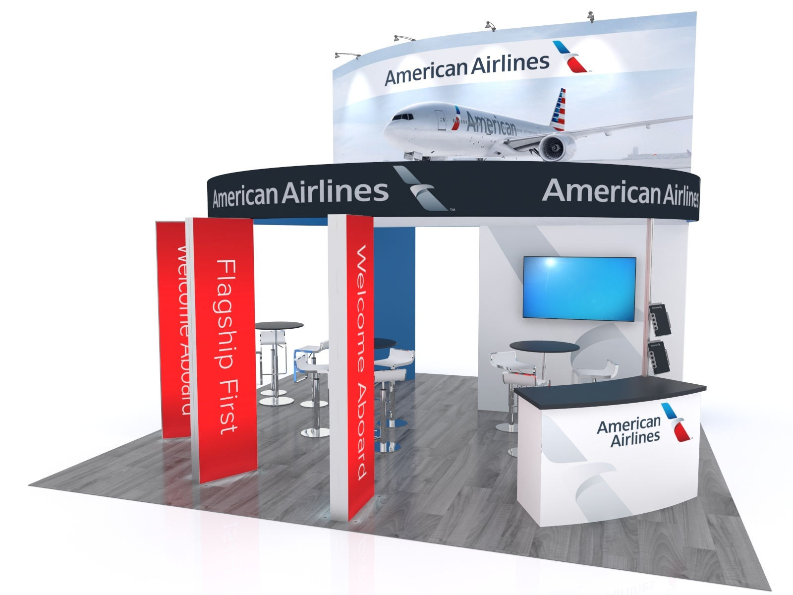 20x20 interactive trade show booth