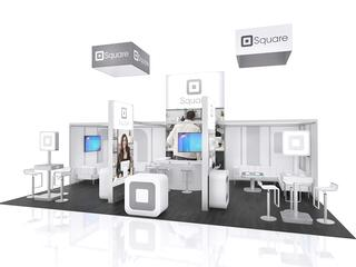 20x20 trade show booth by the tradeshow network marketing group