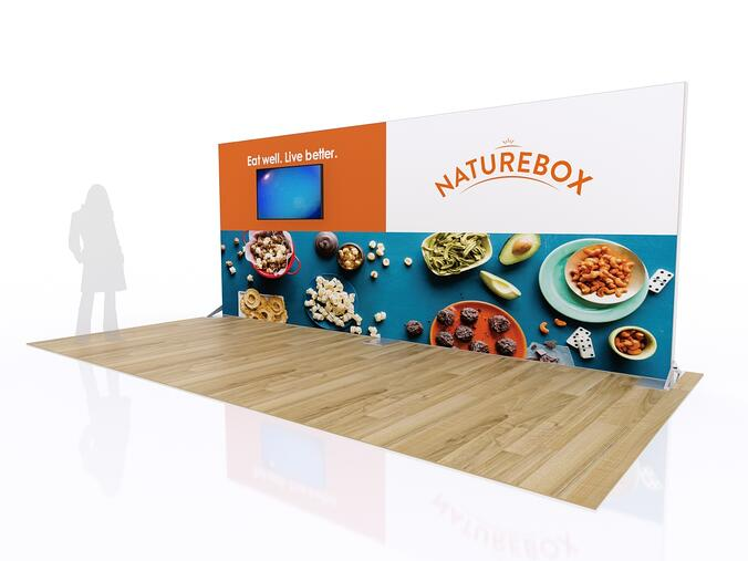 10x20 backlit rental trade show booth
