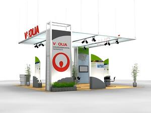 30x50 rental trade show booth