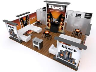 20x20 rental trade show booth the tradeshow network