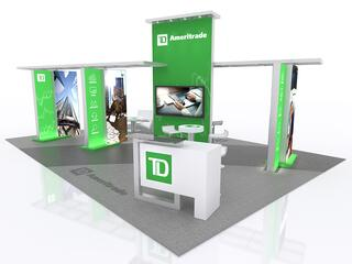 20x20 rental trade show booth from the trade show network