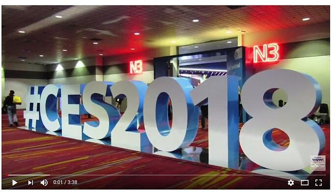 2018 CES video of trade show booths from the tradeshow network
