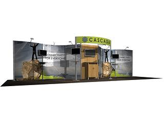 20x30 inline trade show booth in chicago