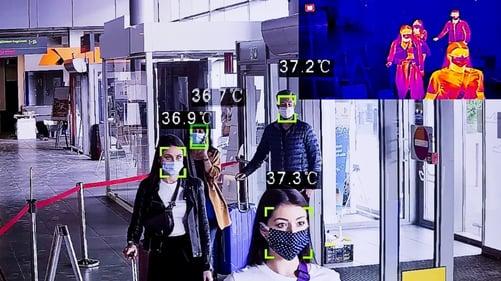 temperature-measurement-at-the-airport-terminal-thermal-image